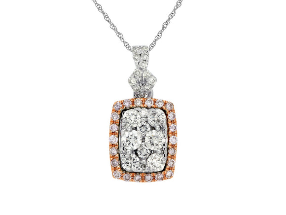 WHITE & PINK DIAMOND PENDANT (WC6921P)