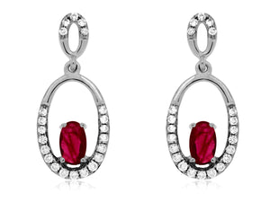 RUBY & DIAMOND EARRING (WC6970R)