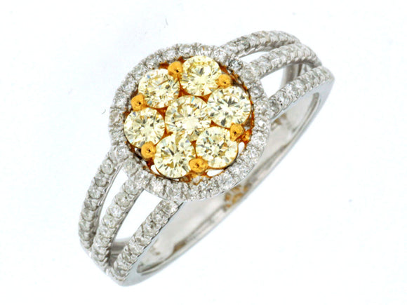 YELLOW DIAMOND & DIAMOND RING (WC7030Y)