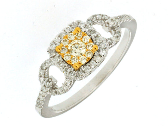 YELLOW DIAMOND & DIAMOND RING (WC7033Y)