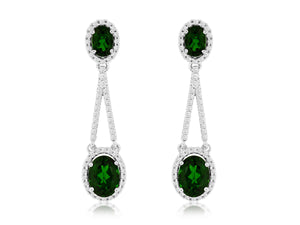 RUSSALITE & DIAMOND EARRING (WC7162C)
