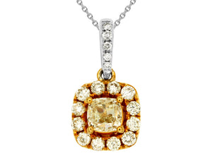YELLOW DIA & DIAMOND PENDANT (WC7428Y)