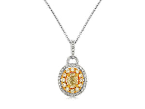 YELLOW DIA & DIAMOND PENDANT (WC7429Y)