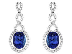 TANZANITE & DIAMOND EARRING (WC7679Z)