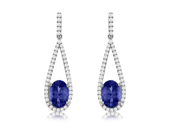 TANZANITE & DIAMOND EARRING (WC7681Z)