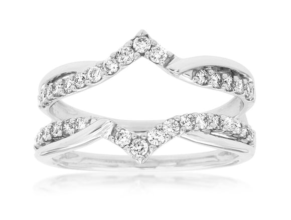 LADIES DIAMOND INSERT RING (WC8234D)