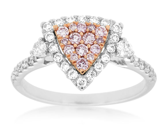 WHITE & PINK DIAMOND RING (WC8483P)