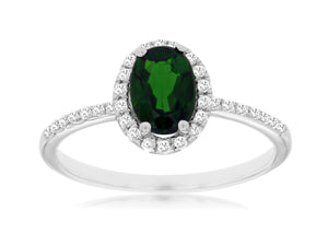 RUSSALITE & DIAMOND RING (WC8643C)
