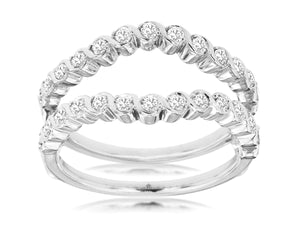 LADIES DIAMOND INSERT RING (WC9227D)