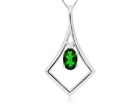 RUSSALITE & DIAMOND PENDANT (WP3841C)