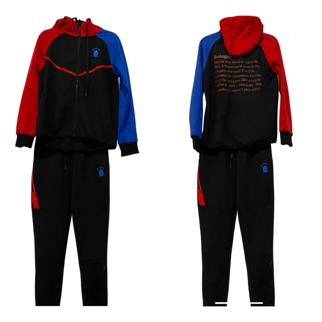 Tricolor Balogun tech fleece track suit