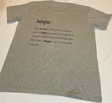 Load image into Gallery viewer, Navy Balogun Logo and definition t-shirt