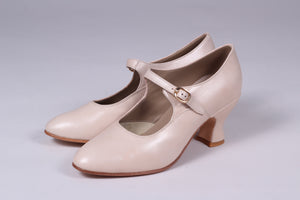 1920's inspired Mary Jane pumps - Cream - Yvonne