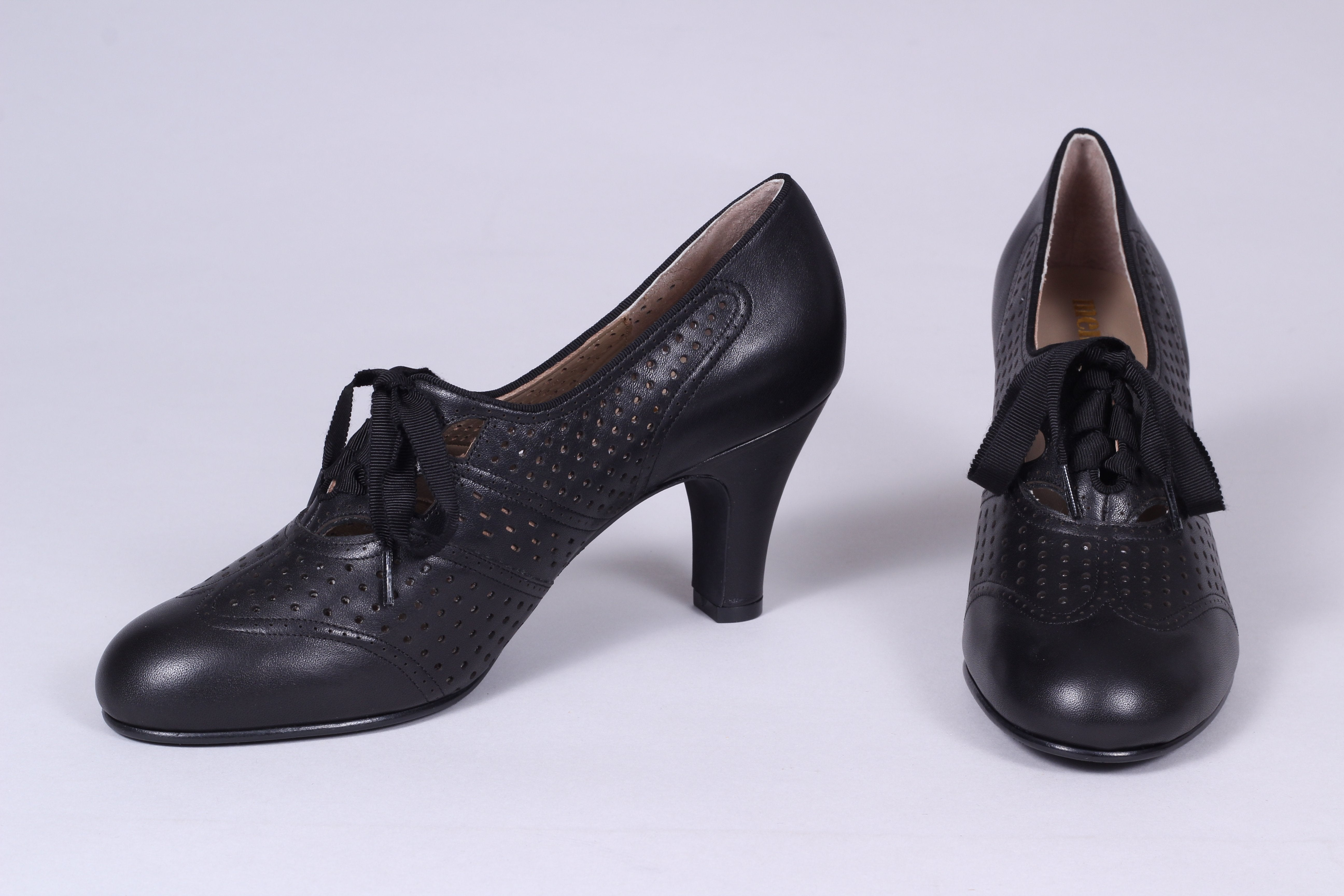 1930s everyday oxford high heel shoes, black, Marie