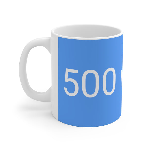 500 Words Writer's Mug in Bovary Blue