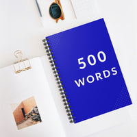 500 Words Spiral Writer's Notebook in Cerulean Blue