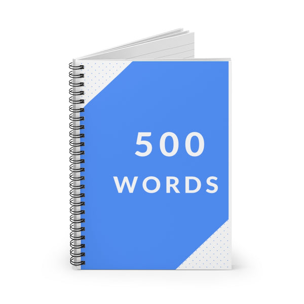 500 Words Spiral Writer's Notebook in Bovary Blue