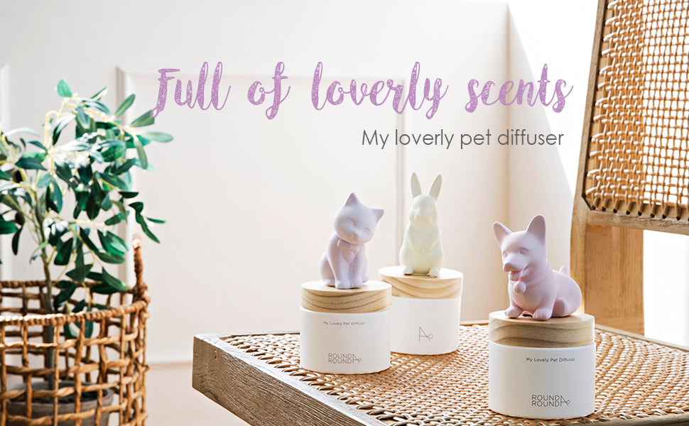 detail of ROUND A'ROUND My Lovely Pet Diffuser 100ml