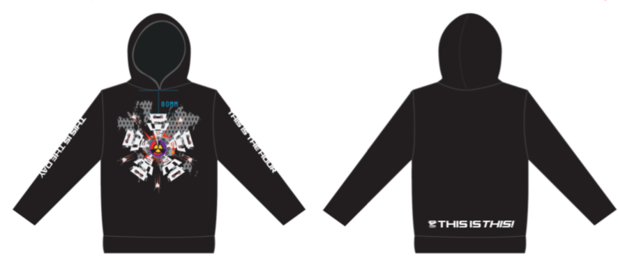 Black 'This Is The Day' Pullover Hoodie
