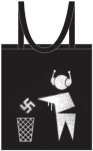 Black 'Anti Nasty League' tote bag