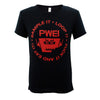 PWEI Sample It, Loop It Tee (Black and Red)