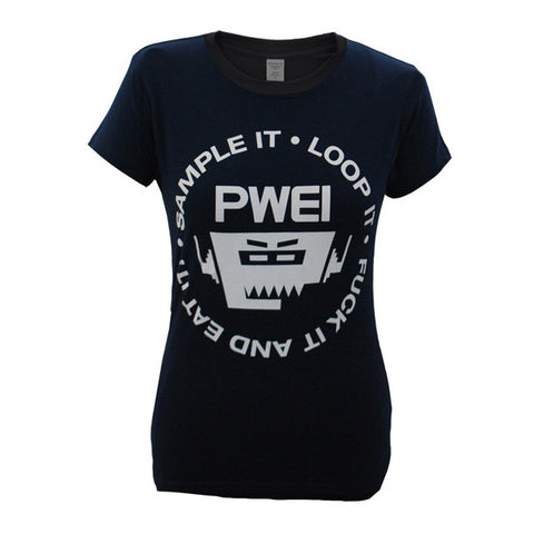 PWEI Sample It, Loop It Tee (Ladies, navy)