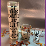 Naughty Candles, Unique Gifts for Him & Her, Adult Humor, Naughty Gifts for him Candles, Naughty Shot Glasses, Custom Shot glasses, custom candles, personalized shot glasses
