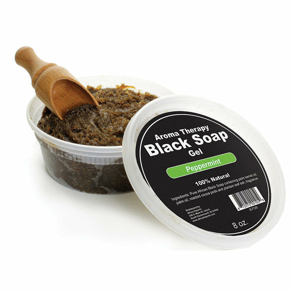 Scented Black Soap Gel, Strawberry, Peppermint, Grapefruit, Egyptian Musk, Aroma Therapy, Natural Soap