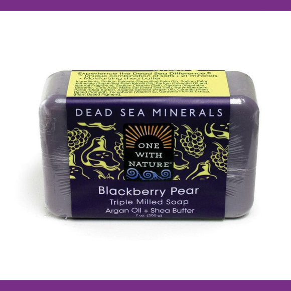 Dead Sea Blackberry Pear, with Argan Oil and Shea Butter, Natural Bar Soap for Men & Women