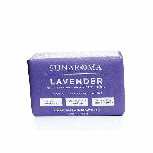 Sunaroma Lavender Soap, Natural Ingredients of Shea Butter and Vitamin E Oil