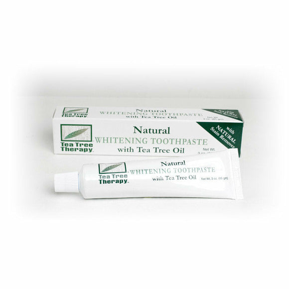 Tea Tree Therapy Whitening Toothpaste, Fluoride Free, Alcohol Free, Natural, Stain Remover, Oral Care, Natural Toothpaste, Natural Mouthwash