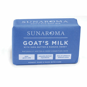 Sunaroma Goat Milk, with Shea Butter and Manuka Honey, 100% Vegetable Base, Natural Bath Soap