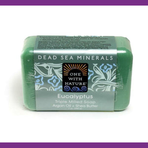 Dead Sea Minerals, Eucalyptus, with Argan Oil and Shea Butter, Deep Cleanse, Natural Bath Soap