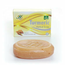 Turmeric Herbal Soap, All Natural, Stimulates Blood Circulation. Eczema, Psoriasis, Natural Anti-bacterial, Olive Oil, Shea Butter, Honey