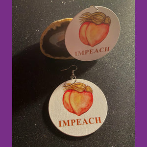 Impeach Earrings, Orange, Peach Earrings, Women Earrings, Dangle Earrings, Statement Earrings