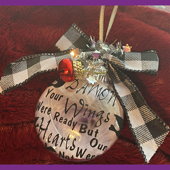 Memorial Christmas Tree Ornaments, Personalize Christmas Tree Ornaments, Tree Decorations, Unique Handmade Christmas Gifts, Memorial Gifts