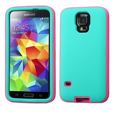 Samsung Galaxy S 5 S5 Soft Rubber Hybrid Hard Case Glow-in-the-dark