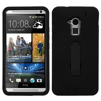 HTC One Max Rugged Hybrid Multi-Layer Hard Denfender Case with Stand