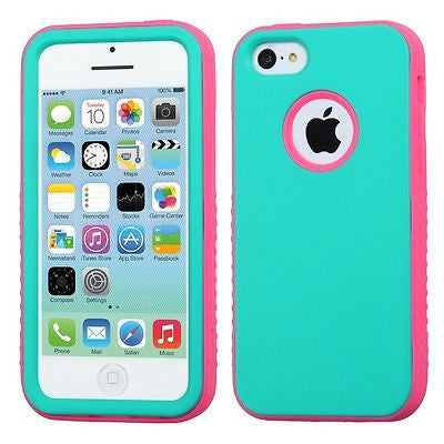 iPhone 5C Rubberized Candy Color Multi-Layer Glow-in-the-Dark Case