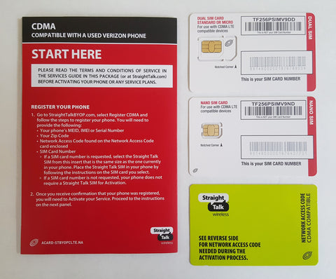 Straight Talk Verizon Compatible CDMA LTE Activation Kit