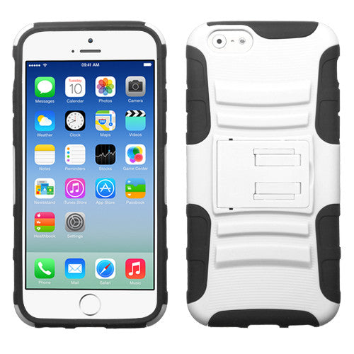 "iPhone 6 (4.7"") Armor Rugged Shockproof Dual Layer Case with Kickstand"