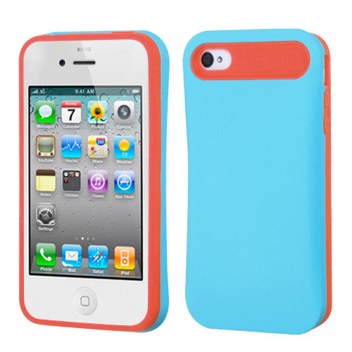 iPhone 4S 4 Case Hidden Card Wallet Candy Color Skin Cover