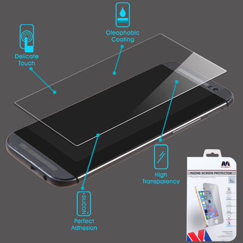 HTC One M8 Premium Tempered Glass Screen Protector Shatter Proof