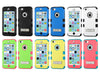 iPhone 5C Hybrid Multi-Layer Shockproof Case with Metal Kickstand