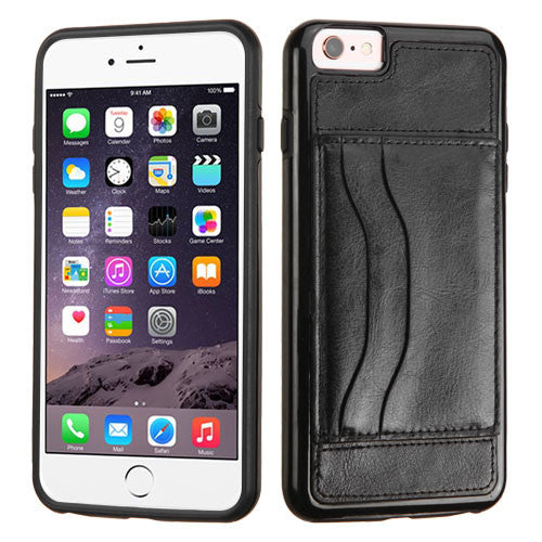 iPhone 6 6S Plus Leather Backing Wallet Case with Stand
