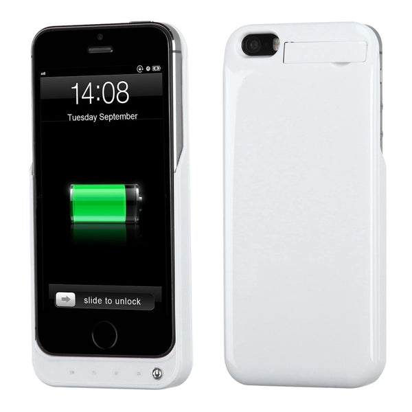 iPhone 5S 5 2200 mAh Power Bank Battery Case with Kickstand