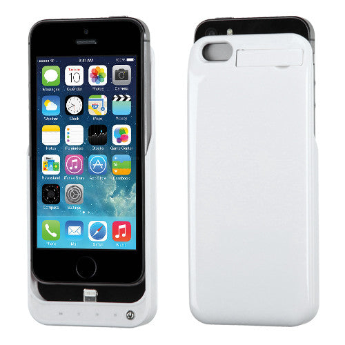 low priced a7fcb b4622 iPhone 5S 5 2200 mAh Power Bank Battery Case with Kickstand