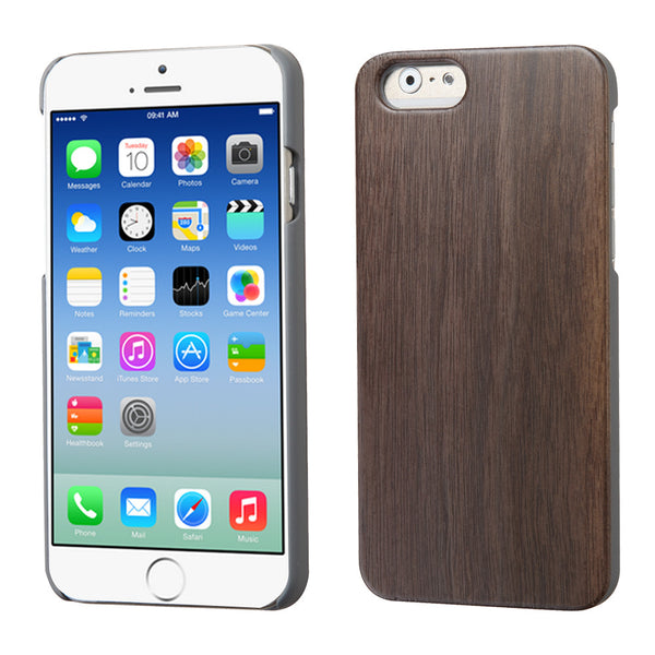 iPhone 6 Walnut TimberWood Back Protector Cover Case Real Wood