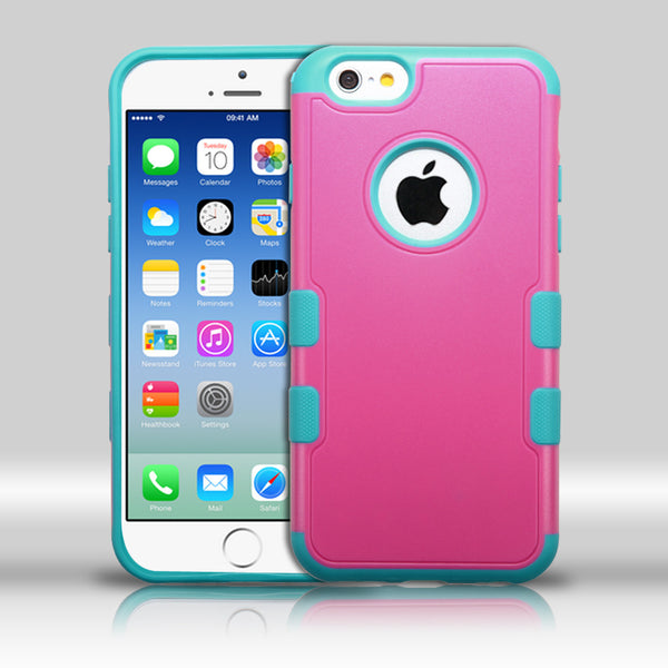 iPhone 6 TUFF Merge Hybrid Cover Case - Hot Pink/Tropical Teal