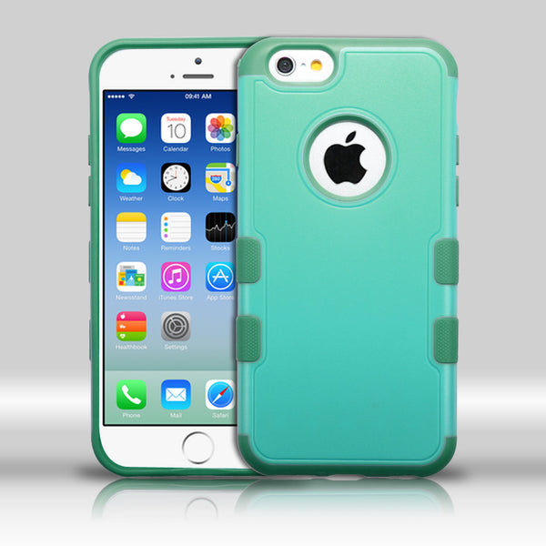 iPhone 6 TUFF Merge Hybrid Cover Case - Natural Baby Green/Forest Green
